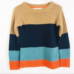 Anthropologie | Sparrow Knit Color Block Sweater